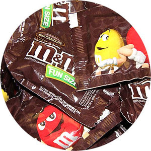All City Candy M&M's Milk Chocolate Candy Fun Size Packets - 3 LB Bulk Bag Bulk Wrapped Mars Chocolate For fresh candy and great service, visit www.allcitycandy.com