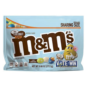 All City Candy M&M's Thai Coconut Peanut Chocolate Candies Sharing Size - 9.6-oz. Resealable Bag Chocolate Mars Chocolate For fresh candy and great service, visit www.allcitycandy.com