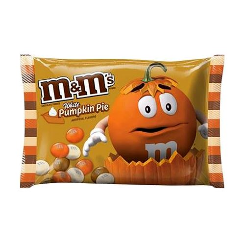 M&M's White Pumpkin Pie Candies - 8-oz. Bag For fresh candy and great service, visit us at www.allcitycandy.com