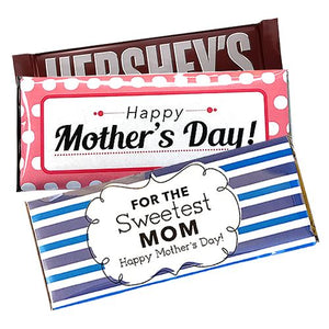 All City Candy Mother's Day Custom Wrapped Hershey's Candy Bar Custom All City Candy For fresh candy and great service, visit www.allcitycandy.com