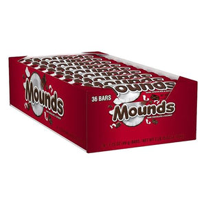 All City Candy Mounds Dark Chocolate & Coconut Candy Bar 1.75 oz. Candy Bars Hershey's Case of 36 For fresh candy and great service, visit www.allcitycandy.com