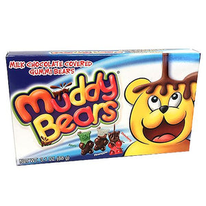 All City Candy Muddy Bears Milk Chocolate Covered Gummi Bears - 3.1-oz. Theater Box Theater Boxes Taste of Nature Inc. For fresh candy and great service, visit www.allcitycandy.com