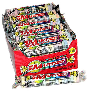 All City Candy Mystery Smarties Candy Roll 2.2 oz. Smarties Candy Company For fresh candy and great service, visit www.allcitycandy.com