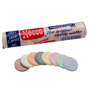 All City Candy Necco Assorted Wafers - 2-oz. Roll Hard Necco 1 Roll For fresh candy and great service, visit www.allcitycandy.com