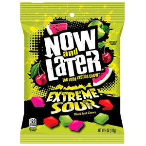 All City Candy Now and Later Extreme Sour Fruit Chews - 4-oz. Bag Taffy Ferrara Candy Company For fresh candy and great service, visit www.allcitycandy.com