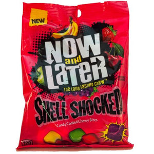 All City Candy Now and Later Shell Shocked Mixed Fruit Candy Coated Chewy Bites - 6-oz. Bag Chewy Ferrara Candy Company For fresh candy and great service, visit www.allcitycandy.com