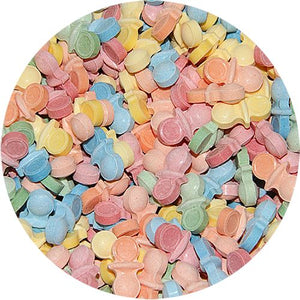 All City Candy Oh Baby Pacifier Shaped Pressed Candy - 3 LB Bulk Bag Bulk Unwrapped Concord Confections (Tootsie) Default Title For fresh candy and great service, visit www.allcitycandy.com