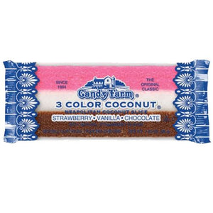 All City Candy Old Fashioned Neapolitan Coconut Slice 1.65 oz. Candy Bars Dayton Nut Specialties 1 Bar For fresh candy and great service, visit www.allcitycandy.com