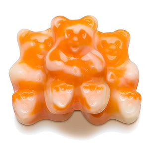 All City Candy Orange Cream Bearsicles Gummi Bears - 5 LB Bulk Bag Bulk Unwrapped Albanese Confectionery For fresh candy and great service, visit www.allcitycandy.com