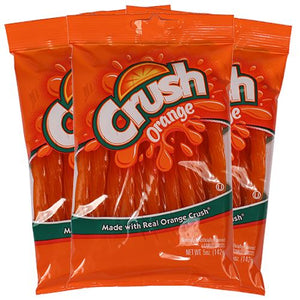 All City Candy Orange Crush Licorice Twists - 5-oz. Bag Licorice Kenny's Candy Company Case of 6 For fresh candy and great service, visit www.allcitycandy.com