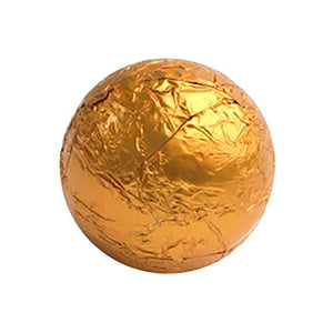 All City Candy Orange Foiled Solid Milk Chocolate Balls - 2 LB Bulk Bag Bulk Wrapped SweetWorks For fresh candy and great service, visit www.allcitycandy.com