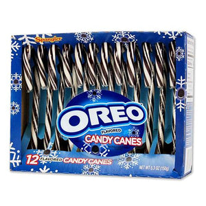 All City Candy Oreo Flavored Candy Canes - Box of 12 Christmas Spangler For fresh candy and great service, visit www.allcitycandy.com