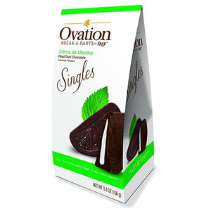 All City Candy Ovation Break-a-Parts Creme de Menthe Filled Dark Chocolate Singles - 5.5-oz. Carton Chocolate SweetWorks For fresh candy and great service, visit www.allcitycandy.com
