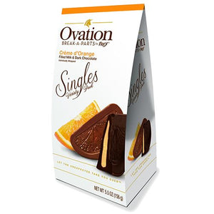 All City Candy Ovation Break-a-Parts Creme d'Orange Filled Milk & Dark Chocolate Singles - 5.5-oz. Carton Chocolate SweetWorks For fresh candy and great service, visit www.allcitycandy.com