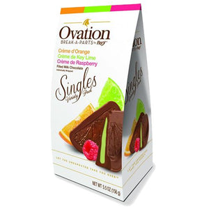 All City Candy Ovation Break-a-Parts Creme Filled Milk Chocolate Singles Variety - 5.5-oz. Carton Chocolate SweetWorks For fresh candy and great service, visit www.allcitycandy.com