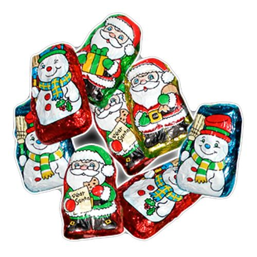 Palmer Chocolate Flavored Santa's Helpers - 3 LB Bulk Bag For fresh candy and great service, visit us at www.allcitycandy.com