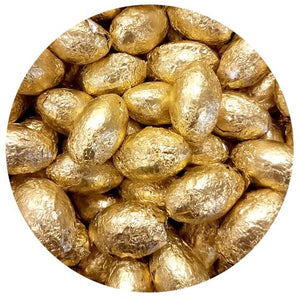 All City Candy Palmer Gold Foiled Chocolate Flavored Eggs - 3 LB Bulk Bag Easter R.M. Palmer Company For fresh candy and great service, visit www.allcitycandy.com