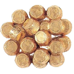 All City Candy Palmer Gold Foiled Mini Peanut Butter Cups - 3 LB Bulk Bag Bulk Wrapped R.M. Palmer Company For fresh candy and great service, visit www.allcitycandy.com