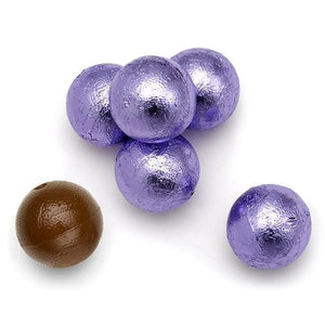 All City Candy Palmer Lavender Foiled Caramel Filled Chocolate Balls - 3 LB Bulk Bag Bulk Wrapped R.M. Palmer Company For fresh candy and great service, visit www.allcitycandy.com