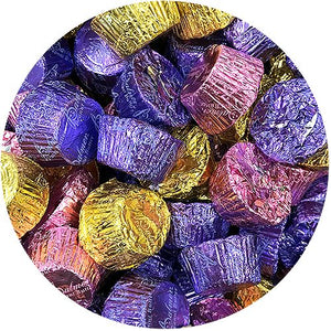 All City Candy Palmer Mini Chocolate Peanut Butter Cups in Spring Foil Wrappers - 3 LB Bulk Bag Easter R.M. Palmer Company For fresh candy and great service, visit www.allcitycandy.com