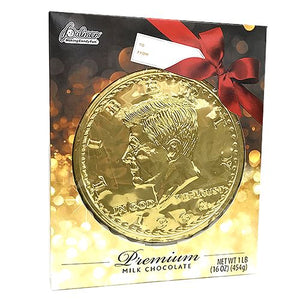 All City Candy Palmer Premium Milk Chocolate Mega Coin - 1 LB Gift Box Christmas R.M. Palmer Company For fresh candy and great service, visit www.allcitycandy.com