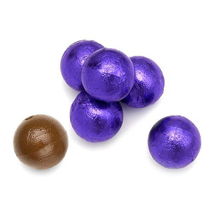 All City Candy Palmer Purple Foiled Caramel Filled Chocolate Balls - 3 LB Bulk Bag Bulk Wrapped R.M. Palmer Company For fresh candy and great service, visit www.allcitycandy.com