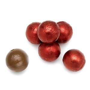 All City Candy Palmer Red Foiled Caramel Filled Chocolate Balls - 3 LB Bulk Bag Bulk Wrapped R.M. Palmer Company For fresh candy and great service, visit www.allcitycandy.com