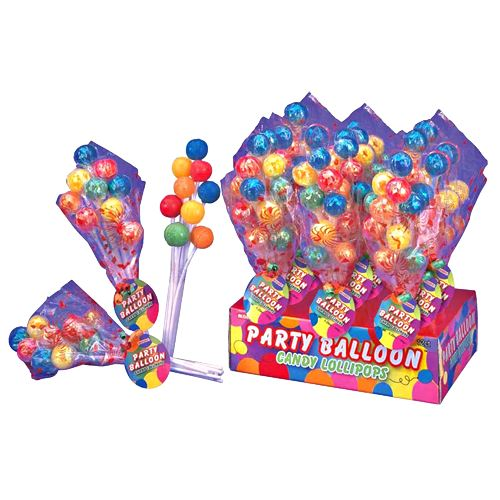 Party Balloon Lollipops Bouquet For fresh candy and great service, visit us at www.allcitycandy.com