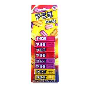 All City Candy PEZ Assorted Fruit Candy Refills .29 oz. - 8 Pack Novelty PEZ Candy Default Title For fresh candy and great service, visit www.allcitycandy.com