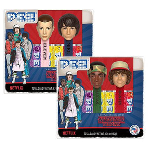 All City Candy PEZ Stranger Things Candy Dispenser Twin Pack Gift Box Novelty PEZ Candy For fresh candy and great service, visit www.allcitycandy.com
