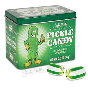 All City Candy Pickle Hard Candy - 2.5-oz. Tin Hard Archie McPhee For fresh candy and great service, visit www.allcitycandy.com