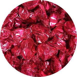 All City Candy Pink Foiled Flashers Strawberry Buttons Hard Candy - 3 LB Bulk Bag Bulk Wrapped Atkinson's Candy For fresh candy and great service, visit www.allcitycandy.com