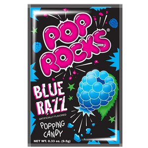 All City Candy Pop Rocks Blue Razz Popping Candy - .33-oz. Package Novelty Pop Rocks (Zeta Espacial SA) 1 Package For fresh candy and great service, visit www.allcitycandy.com