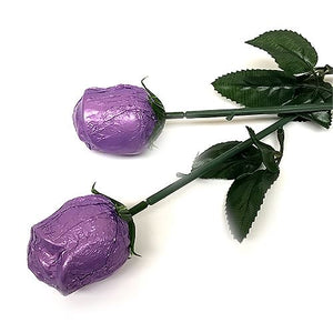 All City Candy Purple Foiled Belgian Chocolate Color Splash Roses Chocolate Albert's Candy 1 Piece For fresh candy and great service, visit www.allcitycandy.com