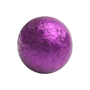 All City Candy Purple Foiled Solid Milk Chocolate Balls - 2 LB Bulk Bag Bulk Wrapped SweetWorks For fresh candy and great service, visit www.allcitycandy.com