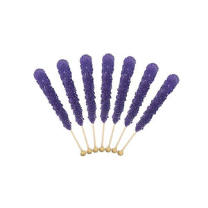 All City Candy Purple Grape Flavored Rock Candy Crystal Sticks - Tub of 36 Rock Candy Espeez For fresh candy and great service, visit www.allcitycandy.com