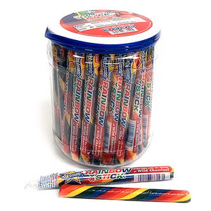 All City Candy Rainbow Stick Wild Cherry Candy Sticks Hard Atkinson's Candy Tub of 52 For fresh candy and great service, visit www.allcitycandy.com