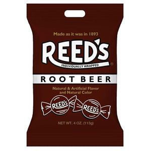 All City Candy Reed's Root Beer Hard Candy - 4-oz. Bag Hard Iconic Candy For fresh candy and great service, visit www.allcitycandy.com