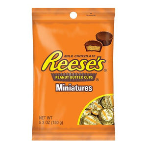 All City Candy Reese's Peanut Butter Cups Miniatures - 5.3-oz. Bag Chocolate Hershey's Default Title For fresh candy and great service, visit www.allcitycandy.com