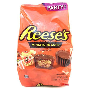 All City Candy Reese's Peanut Butter Cups Minis Party Pack - 35.6-oz. Bag Candy Bars Hershey's For fresh candy and great service, visit www.allcitycandy.com