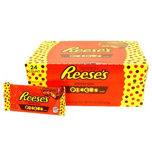 All City Candy Reese's Peanut Butter Cups Stuffed with Reese's Pieces 1.5-oz. Candy Bars Hershey's Case of 24 For fresh candy and great service, visit www.allcitycandy.com