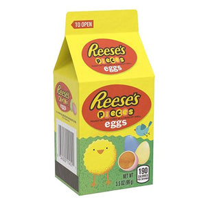 All City Candy Reese's Pieces Peanut Butter Pastel Eggs - 3.5-oz. Carton Easter Hershey's For fresh candy and great service, visit www.allcitycandy.com
