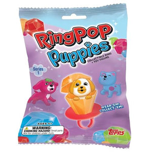 All City Candy Ring Pop Puppies Collectible Ring & Toy Figure Novelty Topps For fresh candy and great service, visit www.allcitycandy.com