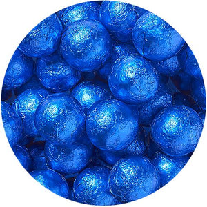 All City Candy Royal Blue Foiled Solid Milk Chocolate Balls - 2 LB Bulk Bag Bulk Wrapped SweetWorks Default Title For fresh candy and great service, visit www.allcitycandy.com