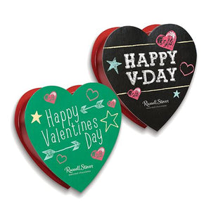 All City Candy Russell Stover Assorted Chocolates Chalkboard Heart Gift Box 1.75 oz. Valentine's Day Russell Stover For fresh candy and great service, visit www.allcitycandy.com