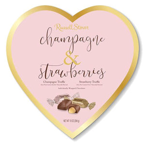 All City Candy Russell Stover Champagne & Strawberries Truffles Heart Gift Box 10 oz. Valentine's Day Russell Stover For fresh candy and great service, visit www.allcitycandy.com