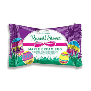 All City Candy Russell Stover Dark Chocolate Covered Maple Cream Egg 1 oz. Easter Russell Stover For fresh candy and great service, visit www.allcitycandy.com
