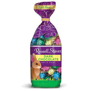 All City Candy Russell Stover Dark Chocolate Solid Mini Eggs - 9-oz. Bag Easter Russell Stover For fresh candy and great service, visit www.allcitycandy.com