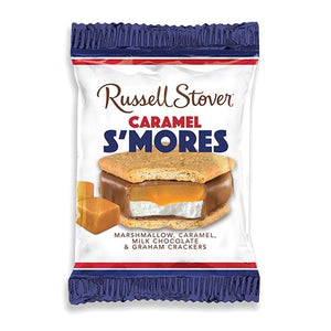 All City Candy Russell Stover Milk Chocolate Caramel & Marshmallow S'mores Bar 1.3 oz. Candy Bars Russell Stover For fresh candy and great service, visit www.allcitycandy.com