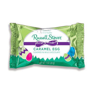 All City Candy Russell Stover Milk Chocolate Covered Caramel Egg 1 oz. Easter Russell Stover For fresh candy and great service, visit www.allcitycandy.com